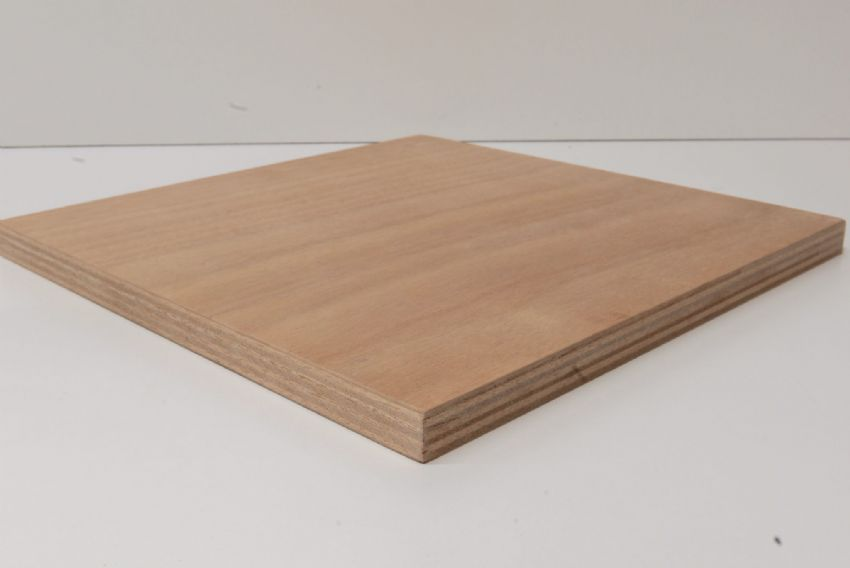 Marine Ply Sheet 1220mm x 1220mm Gaboon (Okoume) Throughout BS1088 WBP